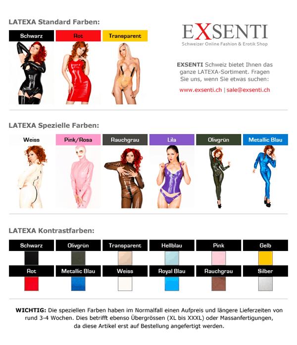 LATEXA Farbentabellen und Latex Kontrastfarben